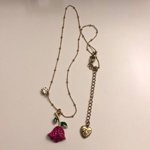 Betsey Johnson pink tulip necklace